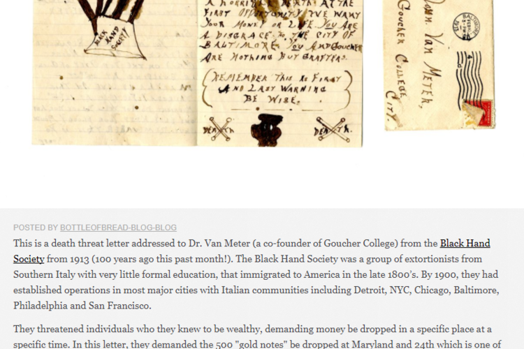 """Scans and writeup for the """"Black Hand Society"""" archival item"""
