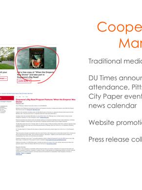 Slide on cooperation with university marketing