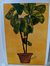 Fiddle-leaf fig painting