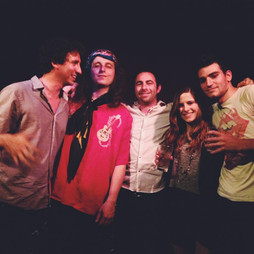 left to right: Matt Abrams, Crazy Tomes, Justin Abrams, Sky Green, and myself