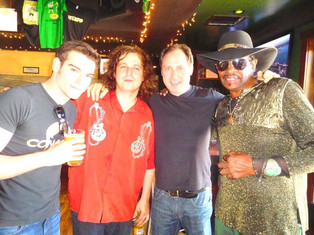 left to right: me, Crazy Tomes, Cadillac Zack, and Willie Chambers