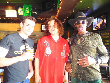 left to right: me, Crazy Tomes, and Willie Chambers