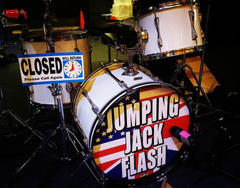 We're live at the Covina Center tonight at 8 pm!__#jumpingjackflash #covinacenter #covina #southerncalifornia #TheRollingStones #rollingston