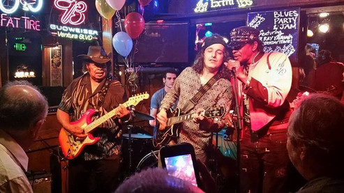 left to right: Guitar Shorty, me, Crazy Tomes, and Willie Chambers