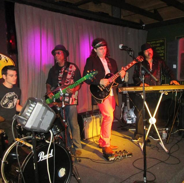 left to right: Jon McCracken, Michael Beholden, Crazy Tomes, and Deacon Jones