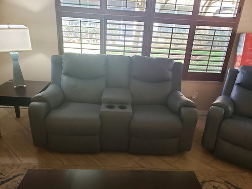 Blue Leather Living room set