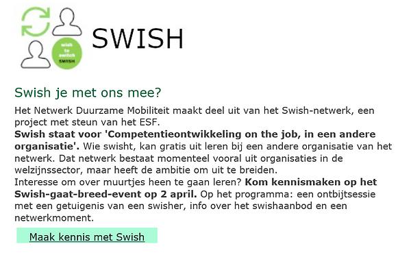 Nieuwsbrief Netwerk Duurzame Mobiliteit.