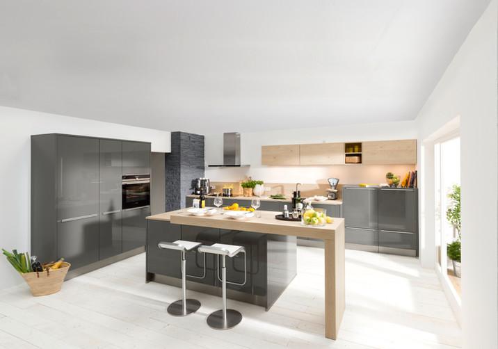 Nolte Küchen - Lux Quarzgrau Hochglanz
