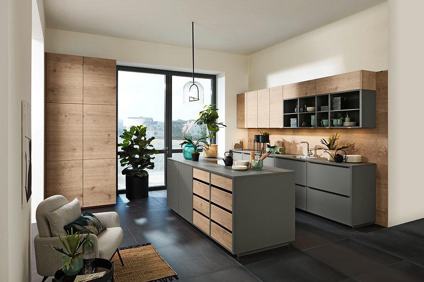 Nolte Küchen - Plus Quarzgrau Manhattan
