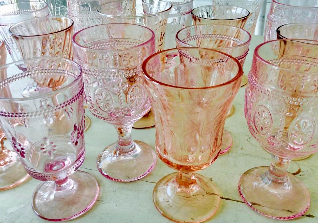 Pink Vintage Goblets