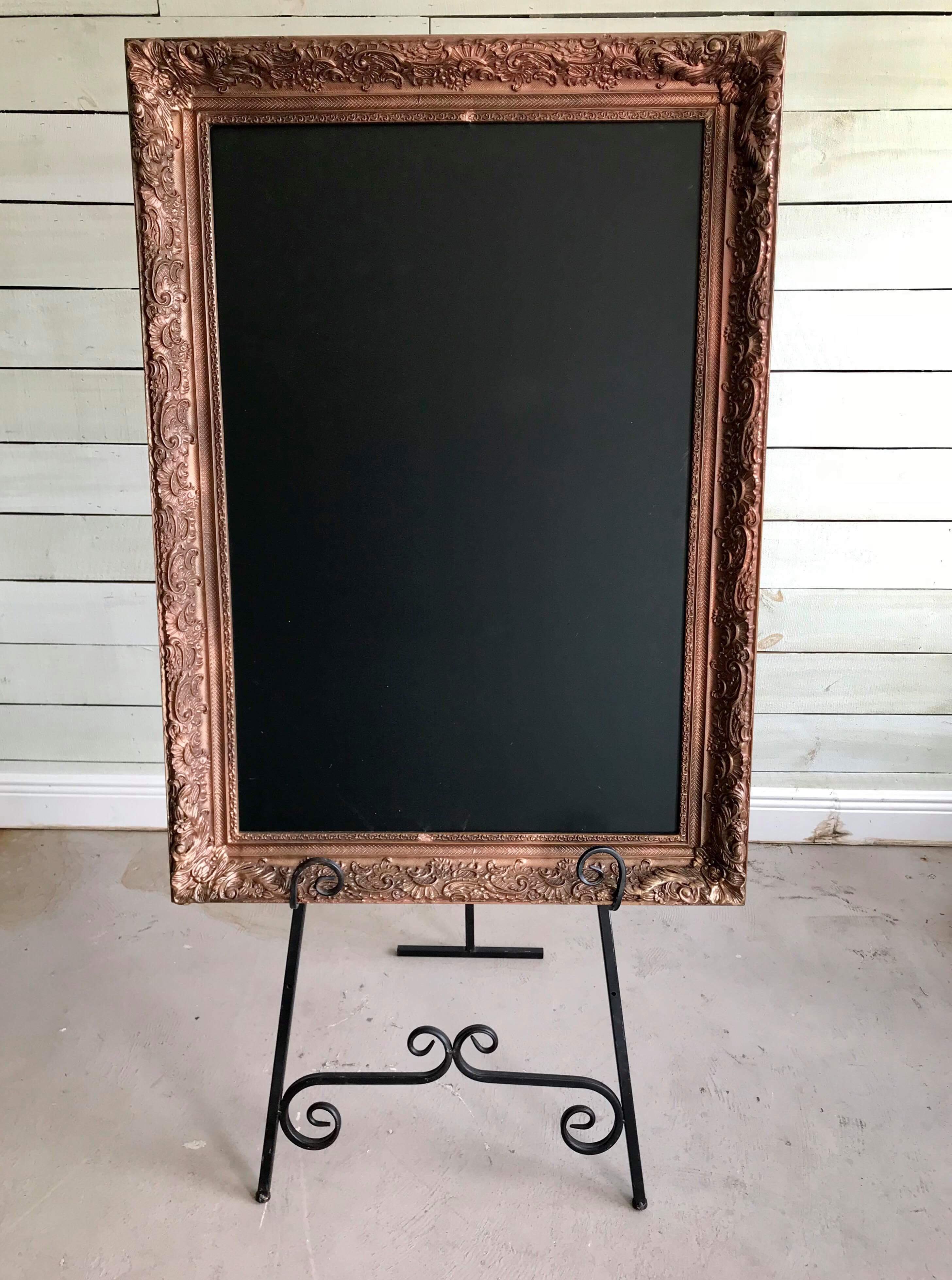 Large framed chalkboard