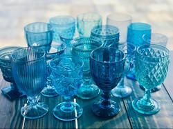 Blue Vintage Goblets