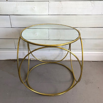 Large Gold mirrored table