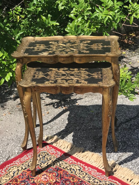 Black and Gold nesting table