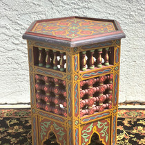 Colorful Wood Side Table