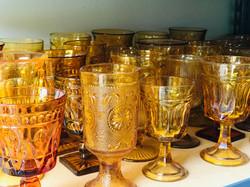 Amber vintage goblet