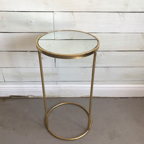Small Gold mirrored table
