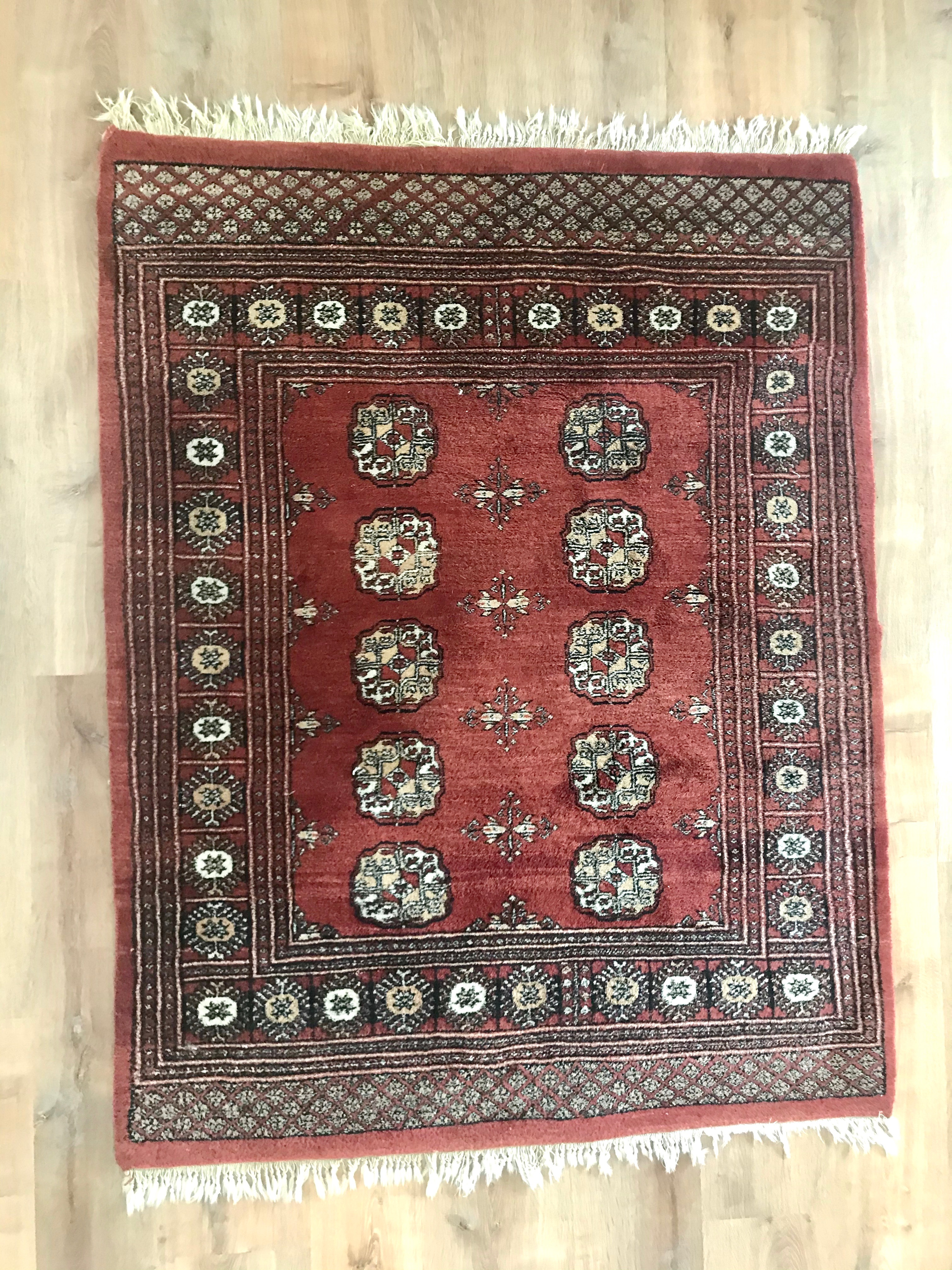 Rust Red Turkish rug