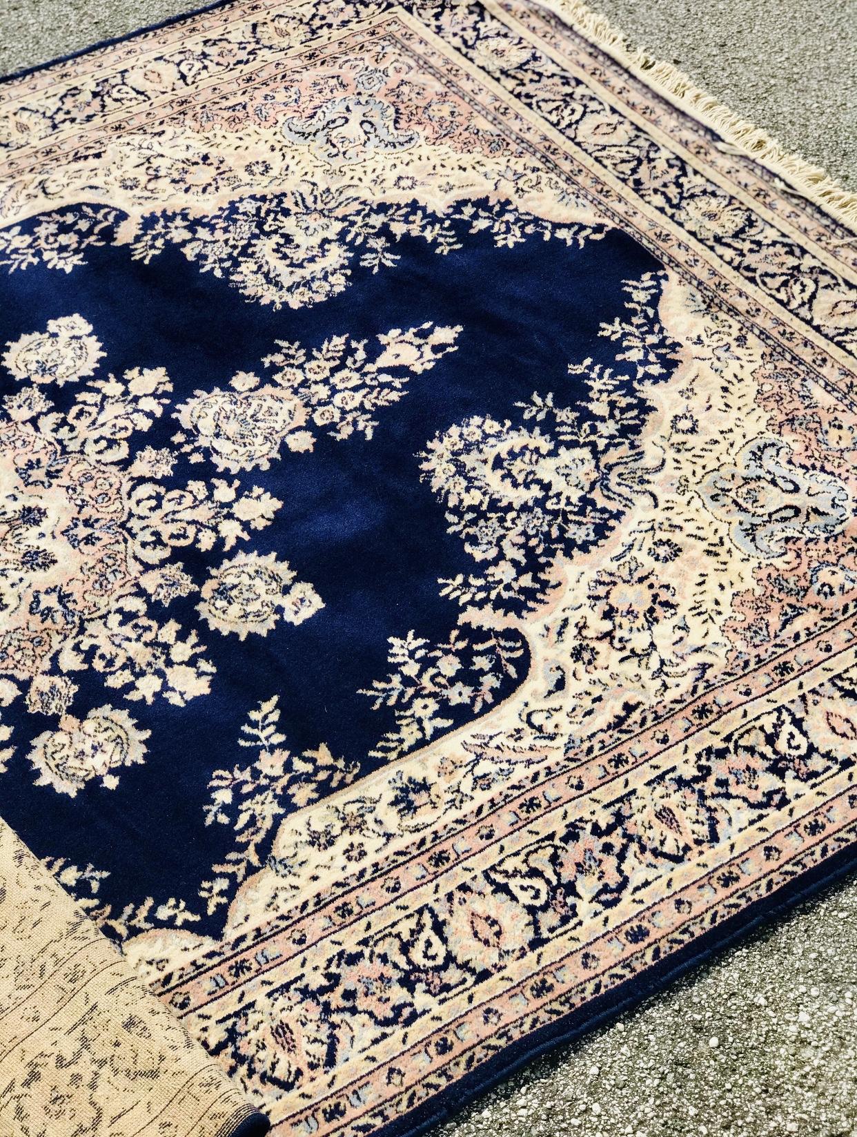 Vintage Blue Oriental Rug