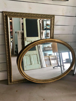 Vintage gold mirrors