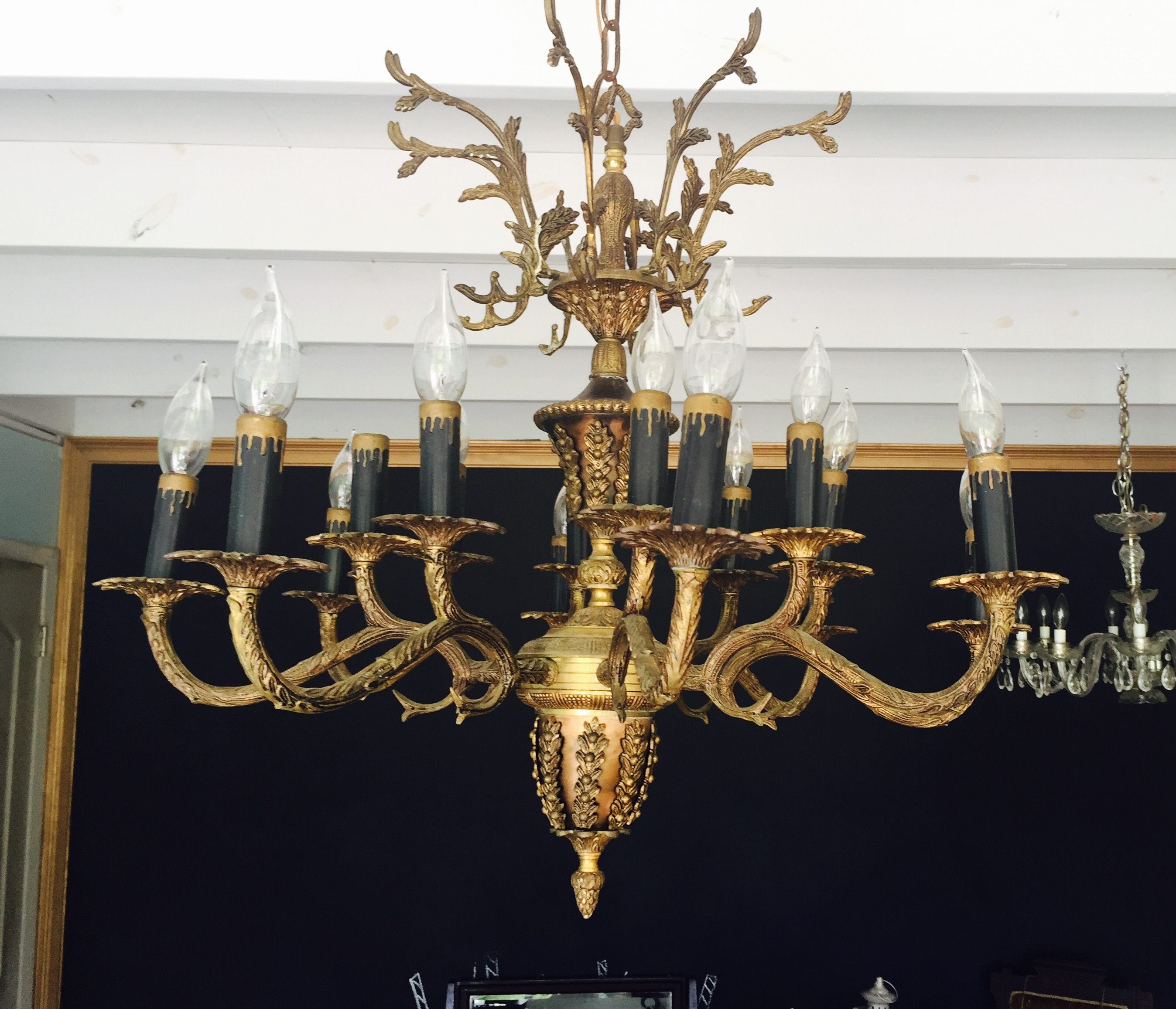 Large gold chandelier