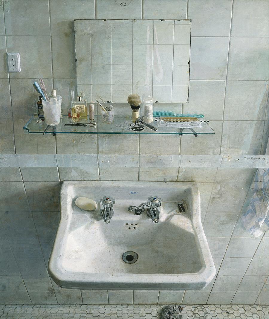 Lavabo y espejo, 1967