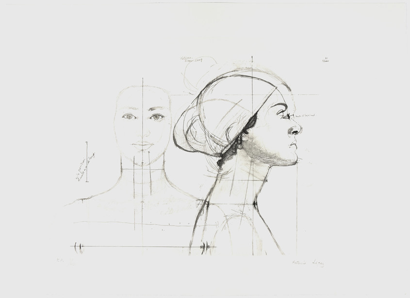 Woman from Coslada, 2010, Etching, aquatint and soft varnish on copper plate, paper. Edition of 125 copies. Plate mark: 41.5 x 59.5 cm, Paper: 56 x 77 cm
