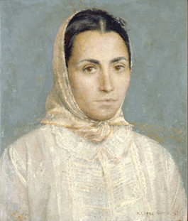 Mari, 1961, oil on panel, 45 x 37 cm