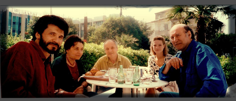 Víctor Erice, María Moreno, Antonio López y Enrique Gran en Cannes, 1992