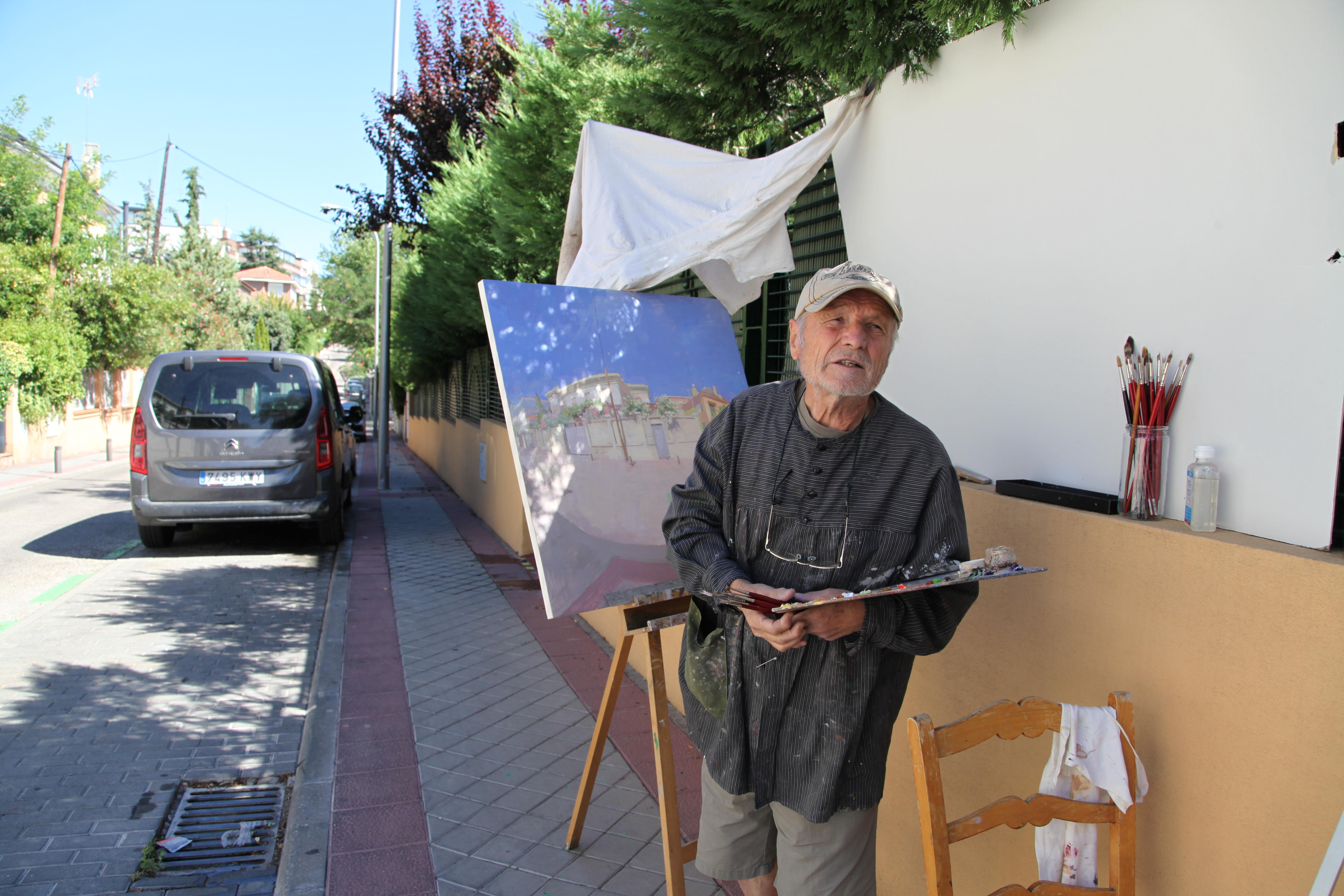 Pintando en la calle en verano de 2020