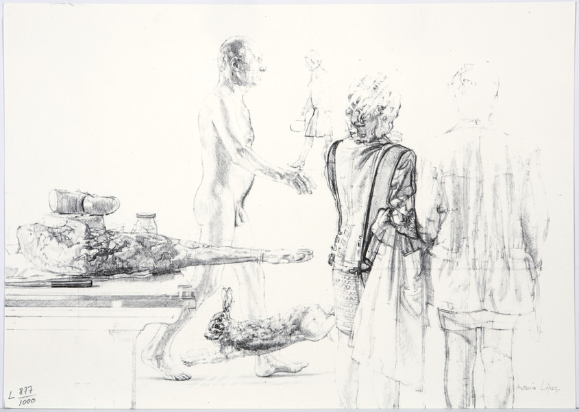 Fable, 1999, Lithographic reproduction. Edition of 1,000 copies. Paper: 32 x 45.2 cm.