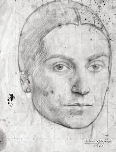 "Dibujo de Mari para la pintura ""Mari y Antonio"", 1961"