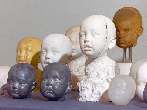 Conjunto de Cabezas de niños
