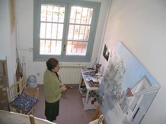 Maria trabajando el el estudio D 2005.jp