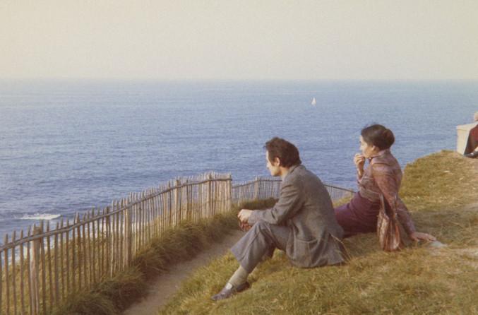 Con Mari, hacia 1973.