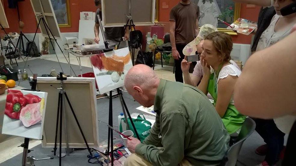 Impartiendo un taller