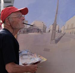 At the square Puerta del Sol, Madrid, Augusto 2021, photo Carles Artés