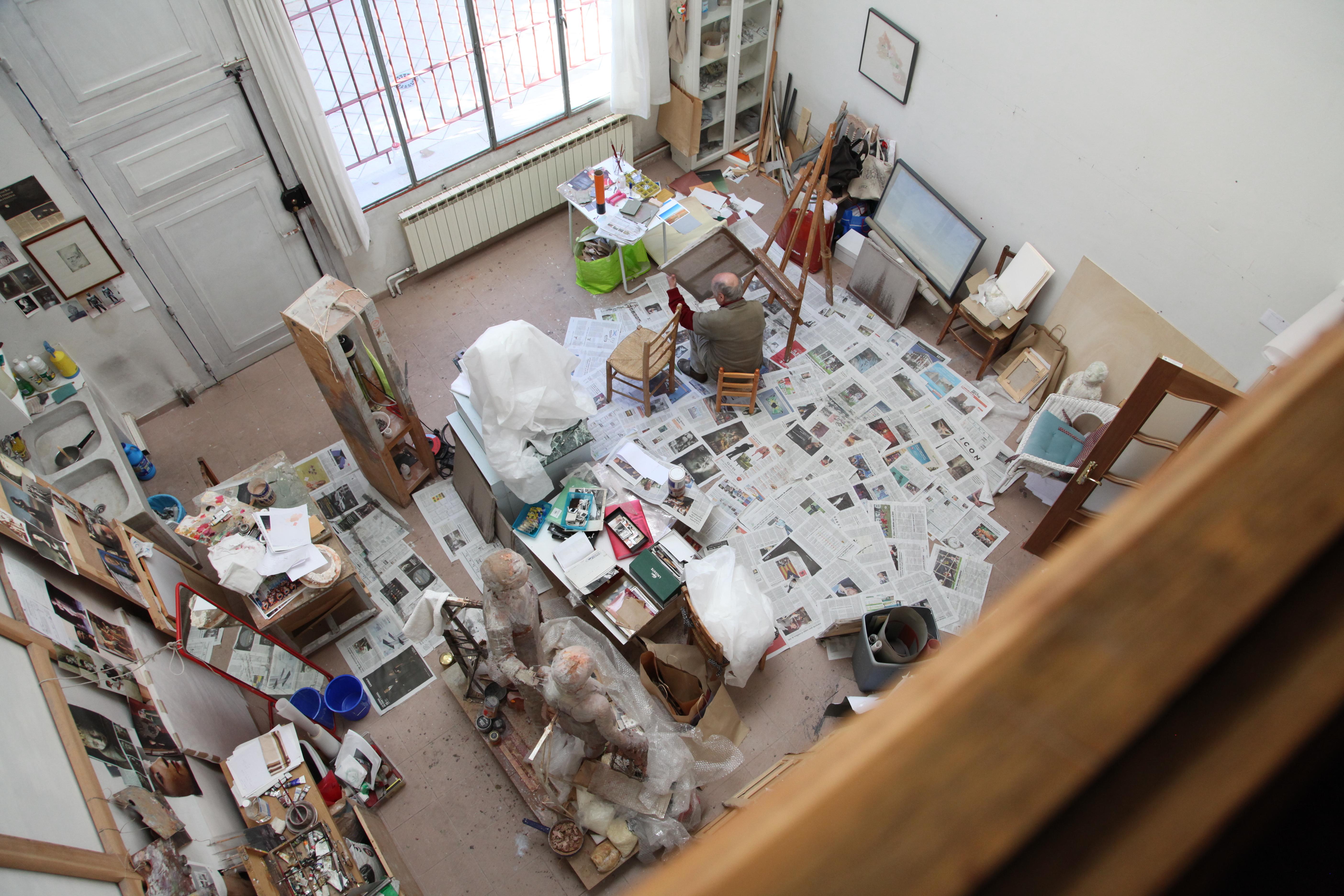 Trabajando en el estudio