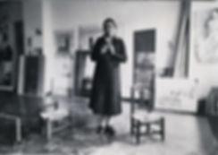 María_Moreno,_preparando_exposición_Gale