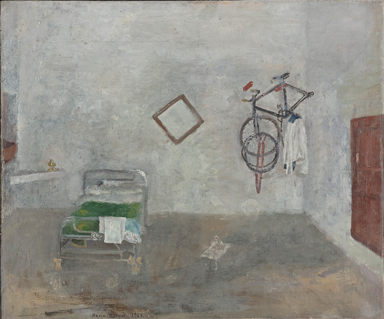 Maria Moreno, Room with bicycle, 1963