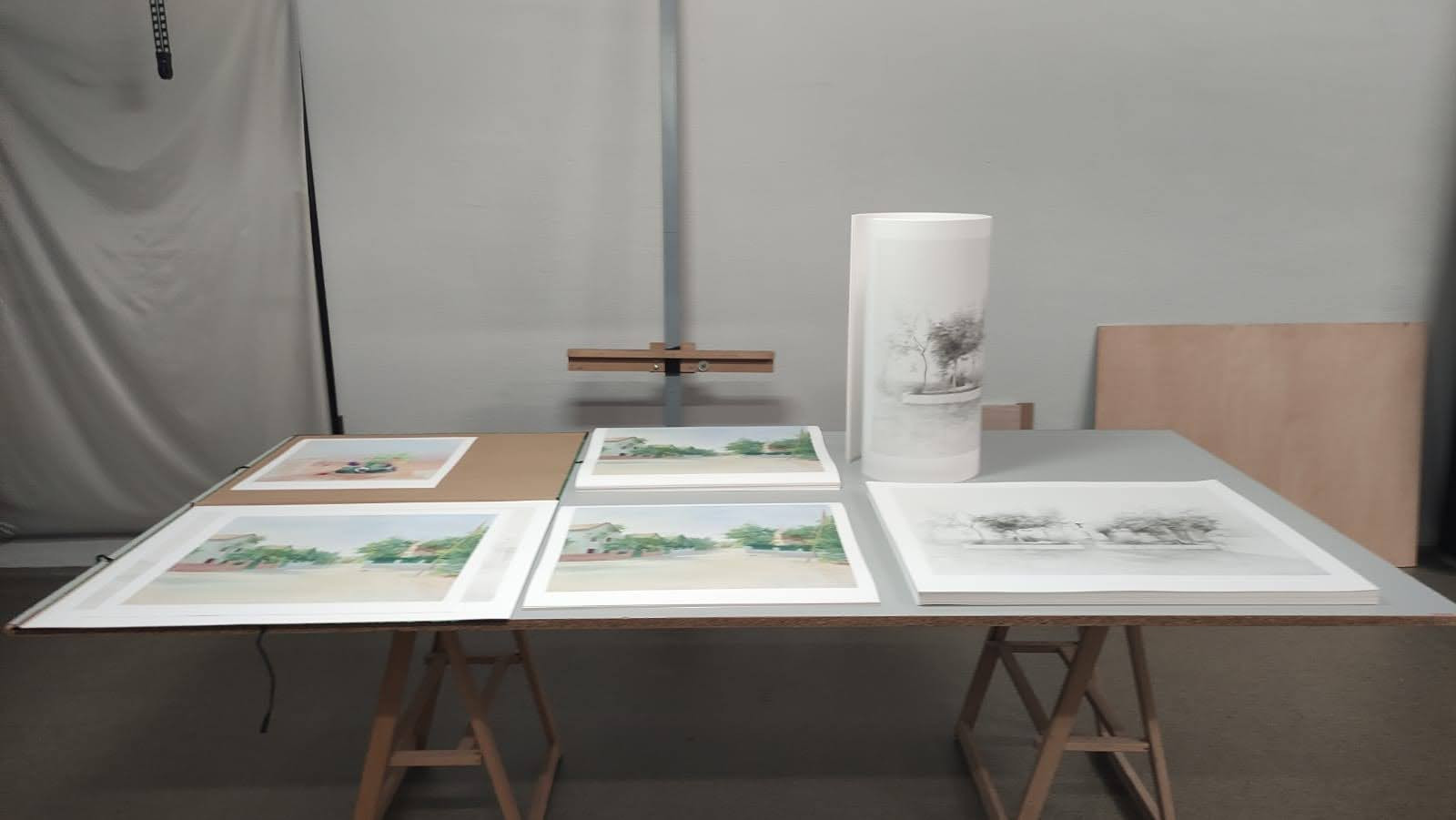 Proofs and prints of the works of María Moreno in UM