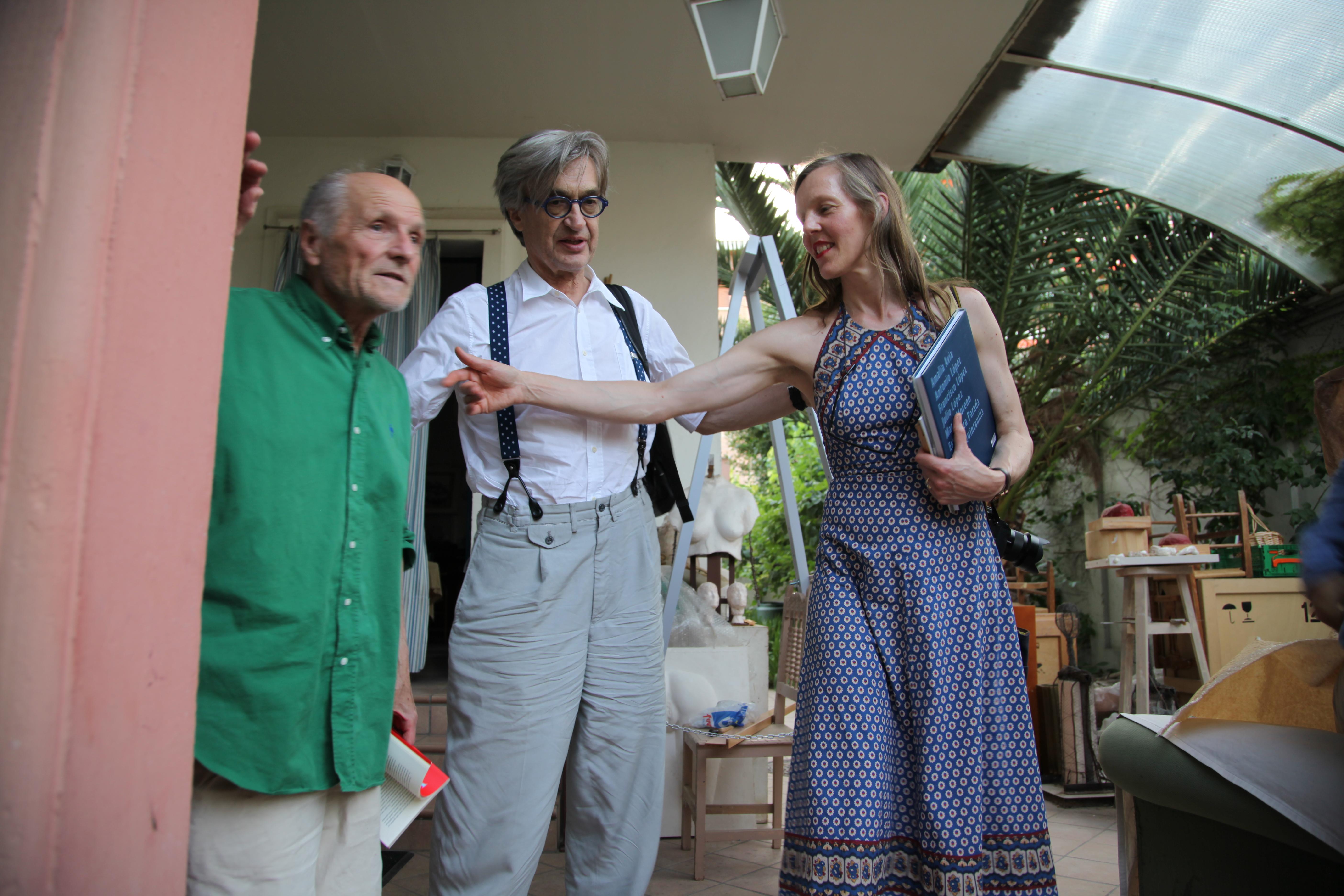 Con Wim y Donata Wenders