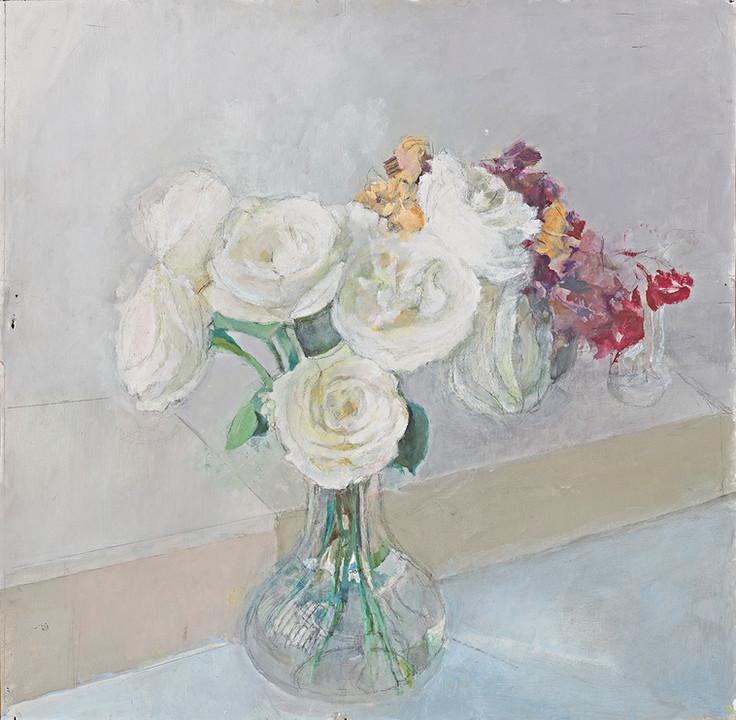 María Moreno, White Roses, c. 2008