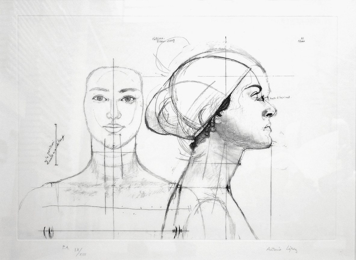 Woman from Coslada, 2010, Etching, aquatint and soft varnish on copper plate. Edition of 125 copies. Plate Mark: 41.5 x 59.5 cm. Paper: 56 x 77 cm