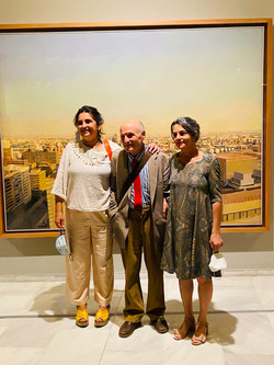 At the opening of his exhibition at the Bancaja Foundation with his daughters