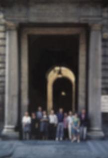 En la Academia de Bellas Artes de San Fe