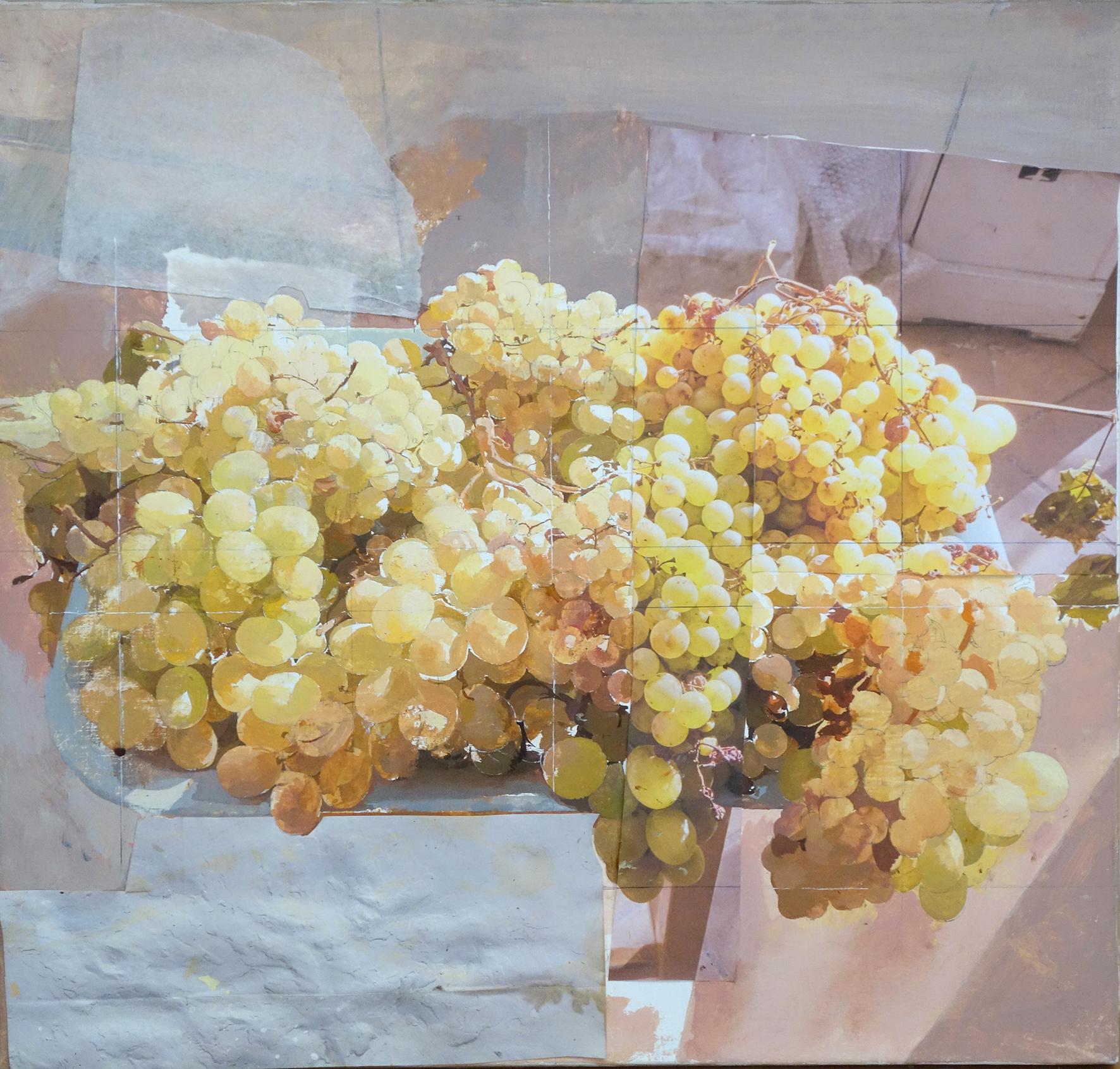 Antonio López, Uvas doradas, 2018, óleo