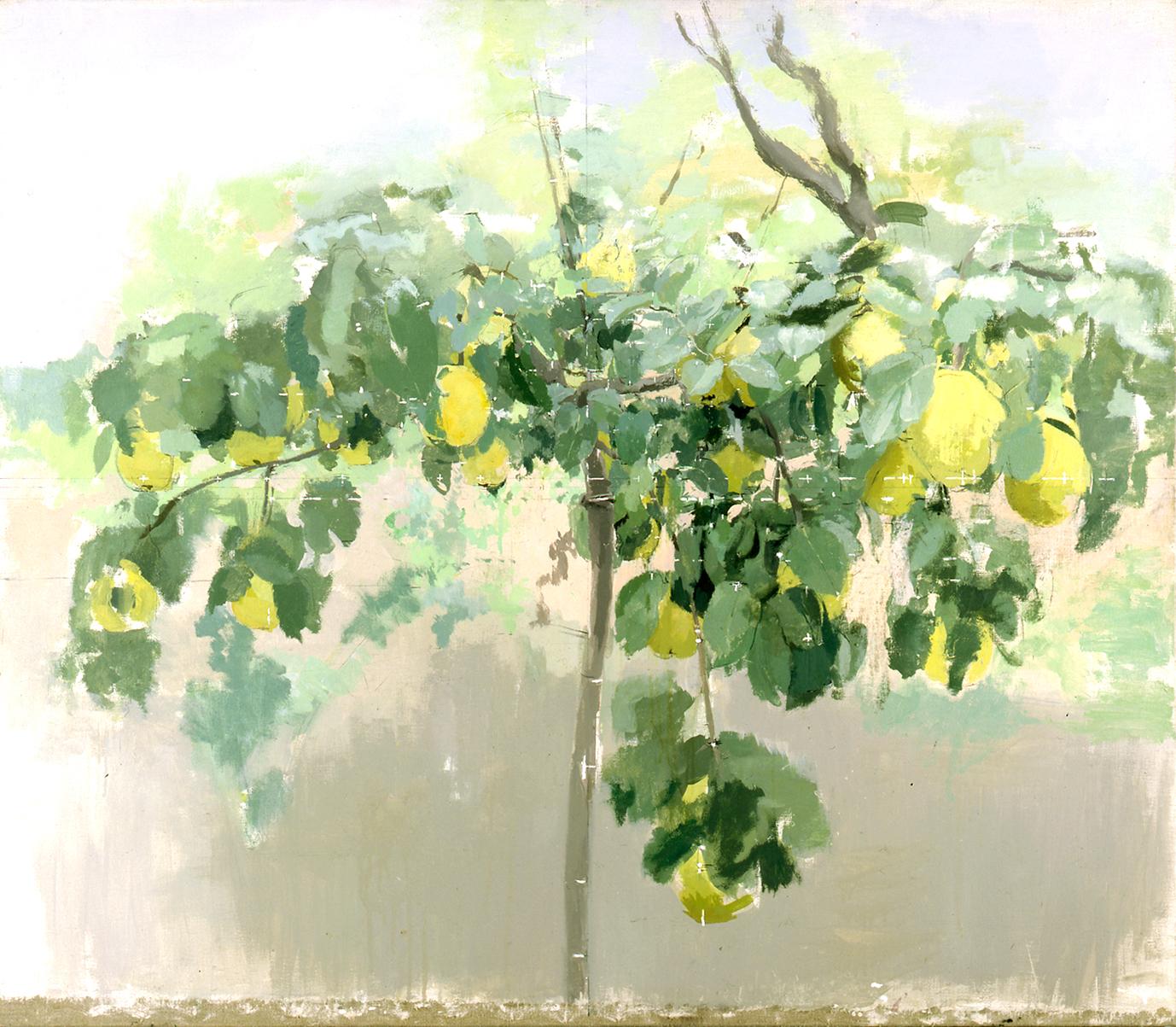 Membrillero, óleo sobre lienzo, 1992
