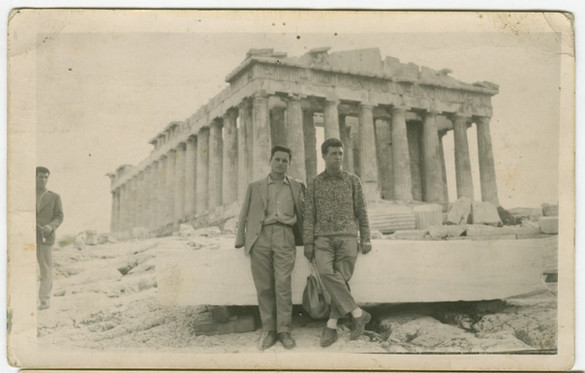 Con Francisco López en el Partenón, Octubre 1958