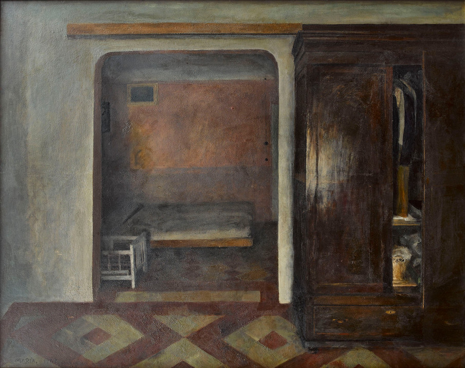 Maria Moreno, Room with bycicle, 1963
